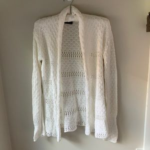 Wooden Ships white knit Cardigan Sz: Small/ Med